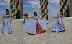 Bow Africa Fashion introduces denim to the clothing line. African Fashion Traditional, African Men Fashion, Africa Fashion, African Fashion Dresses, Ankara Fashion, Traditional Dresses, African Print Skirt, African Print Dresses, African Prints