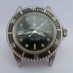 Very Vintage 1966 Rolex SUBMARINER 5513 200m-660ft Gold Writing Gloss Dial