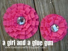 Making flower clips and more from premade ribbon/trims.