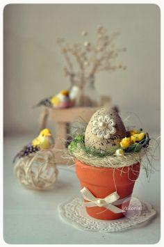 """Easter composition """"Flower""""   #Easter #Easter_Egg #Egg #Easter_decor #Easter decoration"""