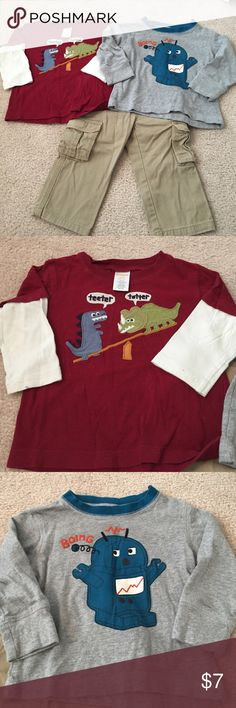 3 piece lot Pants are crazy 8 both tops are Gymboree Gymboree Shirts & Tops Tees - Long Sleeve