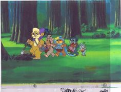 Star Wars Ewoks Original Prod. Animation TEEBO (2) Cel w/ Copy Background #A0583 in Collectibles, Animation Art & Characters, Animation Art   eBay