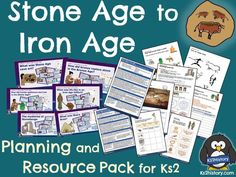 A fully-resourced unit of 10 history lessons for covering the Stone Age to Iron Age topic. This planning pack includes 10 detailed lessons . Primary History, Teaching History, Teaching Plan, Teaching Resources, Stone Age Boy, History Classroom, Mystery Of History, Iron Age, British History