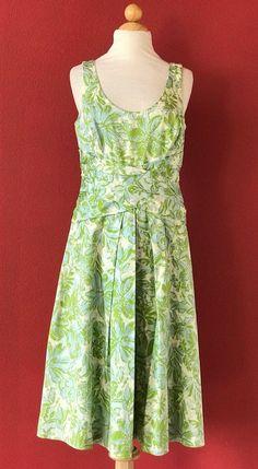 LIZ CLAIBORNE Floral Blue Green Dress Size 10 #LizClaiborne #Shift #Cocktail