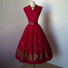vintage 1950s dress ...fab ERNEST DONATH togs and rigs by traven7