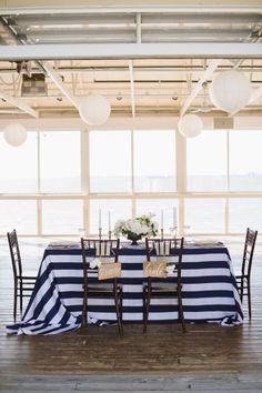 Nautical Elegance -- Coastal Wedding Inspiration on SMP: http://www.StyleMePretty.com/2014/06/03/coastal-glamour-a-nautical-inspired-photo-shoot/  Photography: NatalieFranke.com