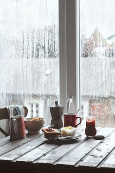 Breakfast on a rainy day