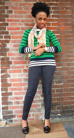 I love the idea of a 3/4-sleeve over a long-sleeve... (<3 Economy of Style!)