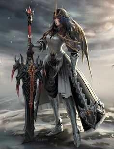 Warrior by ChubyMi on DeviantArt Fantasy Girl, Fantasy Female Warrior, Female Knight, Warrior Girl, Fantasy Armor, Fantasy Women, Dark Fantasy Art, Female Character Design, Character Concept