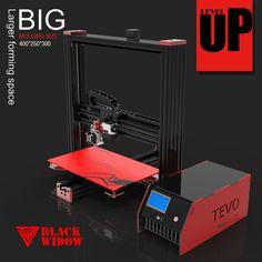 2016 최신 TEVO 블랙 위도우 대형 인쇄 영역 370*250*300 미리메터 OpenBuild 알루미늄 압출 3D 프린터 키트 프린터 3d 인쇄
