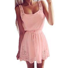 43f865c8486a Malloom® Sexy Sommer Beiläufige Kleider Frauen Ärmelloses Cocktail Kurzes  Minikleid  Amazon.de  Bekleidung