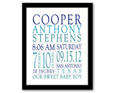 Hey, I found this really awesome Etsy listing at https://www.etsy.com/listing/181912430/printable-birth-stats-wall-art-nursery