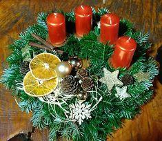 Advent wreath orange