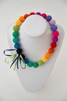 Rainbow crochet necklace - so cute