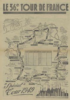 Tour de France 1949. Il percorso