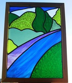 Stained Glass Panel - River Walk £120.00