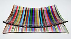 Colorful glass plate.