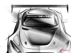 Mercedes-AMG GT3 - Preview Design Sketch - Car Body Design
