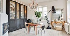 Εντυπωσιακή κατοικία στο Höganäs  που συνδυάζει με αρμονία το μποέμ με το industrial, το vintage και το ethnic.
