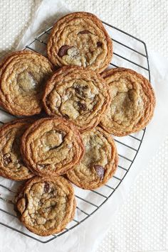 Have you heard of Sarah Kieffer's Chocolate Chip Cookies? They're known for their large, round, flat shape and crisp, wrinkly edges ...