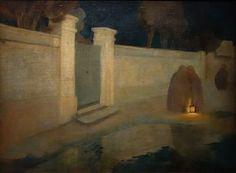 Mexique 1900-1950  Roberto Montenegro (1885-1968). Scène de rue « Nocturne », 1910. Huile sur toile. Guadalajara, Museo Regional de Guadalajara, INAH