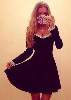 Shop Black Round Neck Long Sleeve Lace A Line Dress online. Sheinside offers Black Round Neck Long Sleeve Lace A Line Dress & more to fit your fashionable needs. Free Shipping Worldwide!