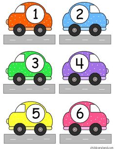 Transportation Self-Correcting Quantity Puzzles 's Numbers Preschool, Preschool Math, Preschool Worksheets, Kindergarten Math, Learning Activities, Activities For Kids, Head Start Classroom, Transportation Theme Preschool, Classroom Labels