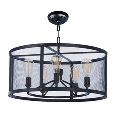 "Juniper 5 light drum chandelier 10.5"" h x 24.25"" w x 24.25"" d"
