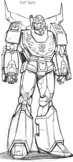 AHM Hot Rodimus prelim. sketch by GuidoGuidi on DeviantArt