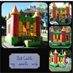 Castillo rojo-amarillo-verde info. Salta y Juega (502) 57970571 / saltayjuega@gmail.com