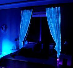 Luminous curtains made of fiber optics fabric... http://www.lumigram.com/