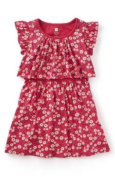 Tea Collection 'Giacomo's Garden' Floral Print Dress (Toddler Girls, Little Girls & Big Girls)
