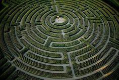The world's largest maze, Reignac sur Indre, France