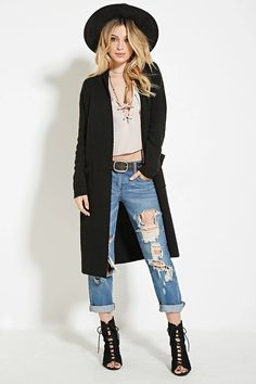 Longline Shawl-Collared Cardigan | Forever 21 #thelatest