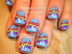 Rainbow Dots Nail Art Tutorial | Step-by-Step Guide by Makeup Tutorials at http://makeuptutorials.com/nail-art-25-beautiful-spring-nail-art-ideas