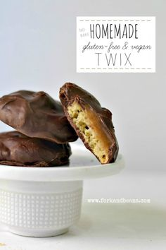 Homemade No-Bake Gluten-free & Vegan Twix