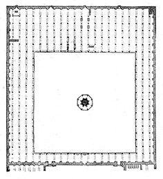 Mosque of Amru, Plan, Cairo, Egypt