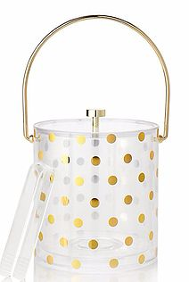 Gold dot ice bucket
