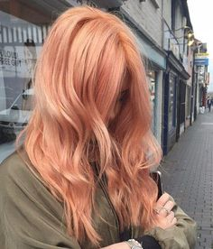 Copper Red Hair with golden highlights.