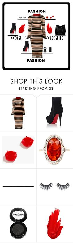 """""""#Fashion"""" by theresagray31 on Polyvore featuring Twin-Set, Christian Louboutin, J.Crew, Merola, Manic Panic NYC, Maybelline, NARS Cosmetics and fashionable"""
