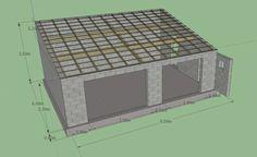 Construction Garage Parpaing Plan Www Otelbegen Com Garage Préfabriqué, Garage Ideas, Garage Beton, Construction Garage, Parking Plan, Garage Double, Home Appliances, How To Plan, Woodworking
