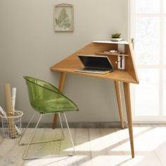 Eckretär - Design-Schreibtisch für die Ecke (freistehend) oder anderswo. Moderner Schreibtisch mit Steckdose und USB-Anschluss