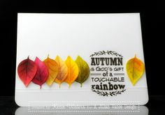 Rainbow of Leaves by LittleSeaOtter - Cards and Paper Crafts at Splitcoaststampers