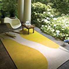 Hand-Hooked Beige/Green Indoor/Outdoor Area Rug & Reviews | AllModern