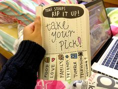 Tear Strips I wish I did this!