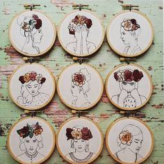 All the girls are together again! It's a rare occasion to have all floral girls in stock so head to Etsy to get your pick.
