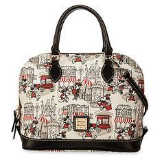 Mickey and Minnie Mouse Downtown Zip Satchel by Dooney & Bourke | Disney Store