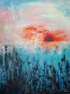 "Saatchi Art Artist Hayley Blanck; Painting, ""Descend "" #art"