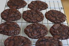 Ghirardelli Brownie Cookies: http://savoringtoday.com/2010/10/15/friday-cookies/