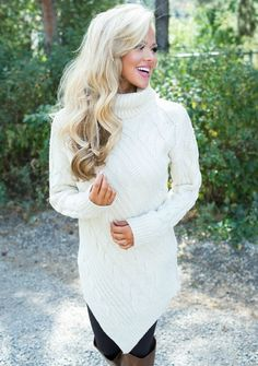 Ivory Knit Sweater Dress, Sweater Dress, Knit Sweater, shopmvb, Modern Vintage Boutique, Women's Boutique, Style, Cute, Fashion